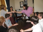Monday, 4/16/2012 - Youth from Plugged In Teen Band Program (Needham, MA) meet with senator John Kerry's tax adviser.